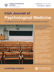 Irish Journal of Psychological Medicine Volume 37 - Issue 2 -