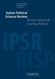 Italian Political Science Review / Rivista Italiana di Scienza Politica Volume 49 - Issue 3 -