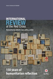 International Review of the Red Cross Volume 100 - Issue 907-909 -  150 years of humanitarian reflection