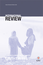 International Review of the Red Cross Volume 90 - Issue 869 -  Conflict in Iraq II
