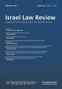 Israel Law Review Volume 46 - Issue 2 -