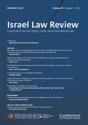 Israel Law Review Volume 49 - Issue 3 -