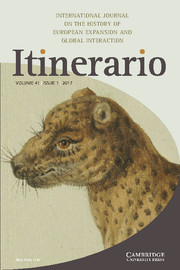 Itinerario Volume 41 - Special Issue1 -  Knowledge Brokers and Knowledge Production in Colonial Orders