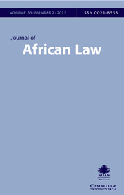 Journal of African Law Volume 56 - Issue 2 -