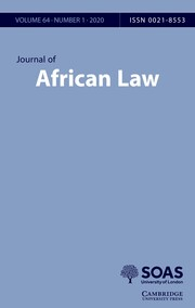 Journal of African Law Volume 64 - Issue 1 -