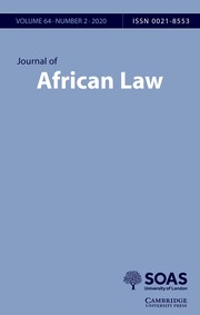 Journal of African Law Volume 64 - Issue 2 -