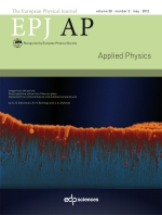 The European Physical Journal - Applied Physics Volume 58 - Issue 2 -