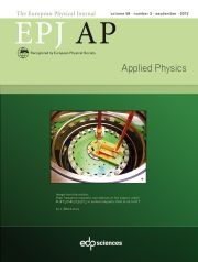 The European Physical Journal - Applied Physics Volume 59 - Issue 3 -