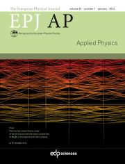 The European Physical Journal - Applied Physics Volume 61 - Issue 1 -
