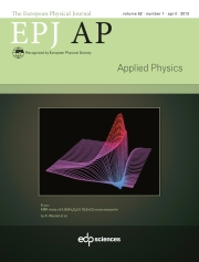 The European Physical Journal - Applied Physics Volume 62 - Issue 1 -