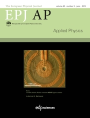 The European Physical Journal - Applied Physics Volume 62 - Issue 3 -