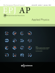 The European Physical Journal - Applied Physics Volume 65 - Issue 1 -