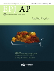 The European Physical Journal - Applied Physics Volume 65 - Issue 2 -