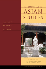 The Journal of Asian Studies Volume 68 - Issue 2 -