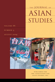 The Journal of Asian Studies Volume 68 - Issue 3 -