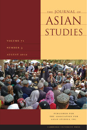 The Journal of Asian Studies Volume 71 - Issue 3 -