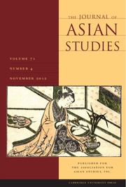 The Journal of Asian Studies Volume 71 - Issue 4 -