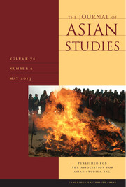 The Journal of Asian Studies Volume 72 - Issue 2 -