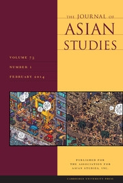 The Journal of Asian Studies Volume 73 - Issue 1 -