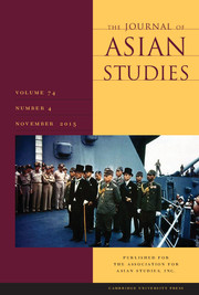 The Journal of Asian Studies Volume 74 - Issue 4 -