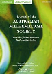 Journal of the Australian Mathematical Society Volume 89 - Issue 3 -