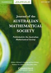 Journal of the Australian Mathematical Society Volume 91 - Issue 3 -