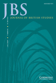 Journal of British Studies Volume 56 - Issue 2 -