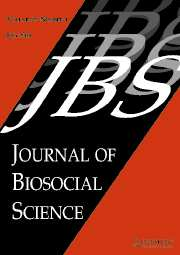 Journal of Biosocial Science Volume 37 - Issue 4 -