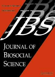 Journal of Biosocial Science Volume 37 - Issue 5 -