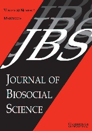 Journal of Biosocial Science Volume 38 - Issue 2 -