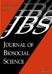 Journal of Biosocial Science Volume 39 - Issue 5 -