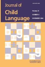 Journal of Child Language Volume 31 - Issue 4 -