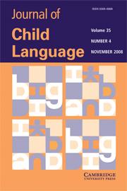 Journal of Child Language Volume 35 - Issue 4 -