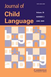 Journal of Child Language Volume 36 - Issue 3 -