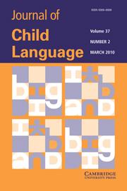 Journal of Child Language Volume 37 - Issue 2 -