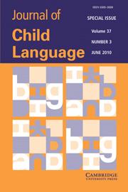 Journal of Child Language Volume 37 - Issue 3 -  Computational models of child language learning
