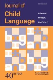 Journal of Child Language Volume 40 - Issue 2 -