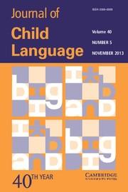 Journal of Child Language Volume 40 - Issue 5 -
