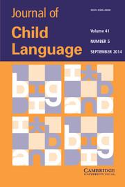 Journal of Child Language Volume 41 - Issue 5 -