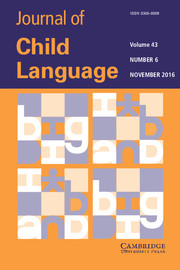 Journal of Child Language Volume 43 - Issue 6 -