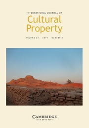 International Journal of Cultural Property Volume 26 - Issue 1 -