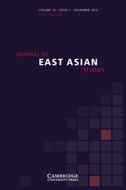 Journal of East Asian Studies Volume 16 - Issue 3 -