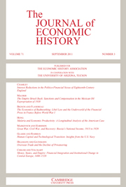 The Journal of Economic History Volume 71 - Issue 3 -