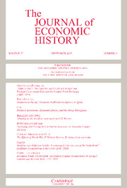 The Journal of Economic History Volume 77 - Issue 3 -