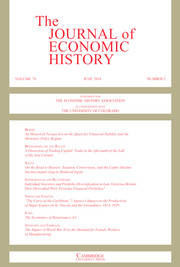 The Journal of Economic History Volume 78 - Issue 2 -