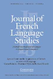 Journal of French Language Studies Volume 14 - Issue 3 -