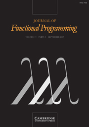 Journal of Functional Programming Volume 19 - Issue 5 -