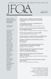 Journal of Financial and Quantitative Analysis Volume 47 - Issue 1 -