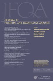 Journal of Financial and Quantitative Analysis Volume 53 - Issue 1 -