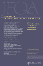 Journal of Financial and Quantitative Analysis Volume 54 - Issue 2 -